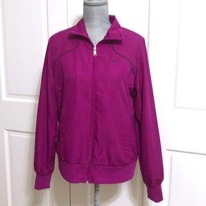 Nike Purple Zip Up Lined Windbreaker Jacket